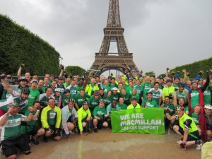 Team Macmillan at the Eiffel Tower